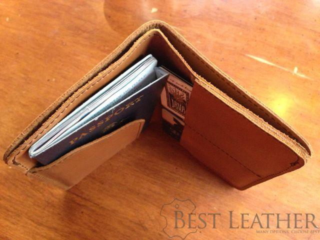 Saddleback Leather RFID Shielded Passport Wallet Tobacco
