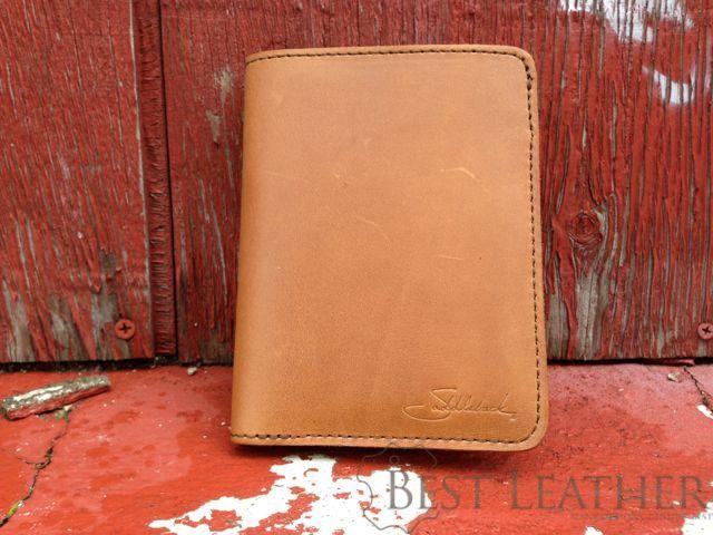 Saddleback Leather RFID Shielded Passport Wallet Tobacco red
