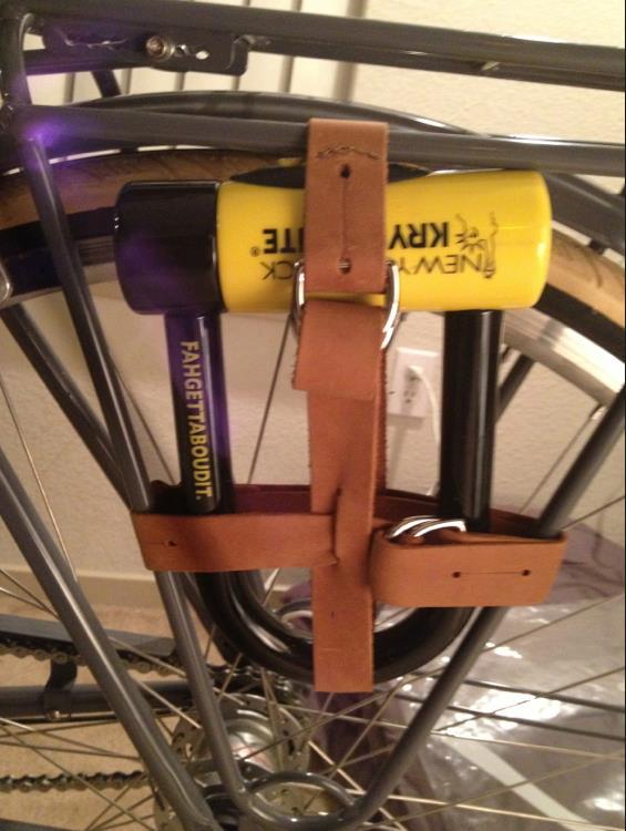 saddleback leather utility straps bike lock carrier