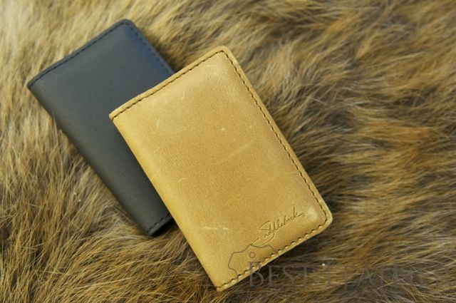 Saddleback Leather Business Card/Credit Card Wallet tobacco and dcb