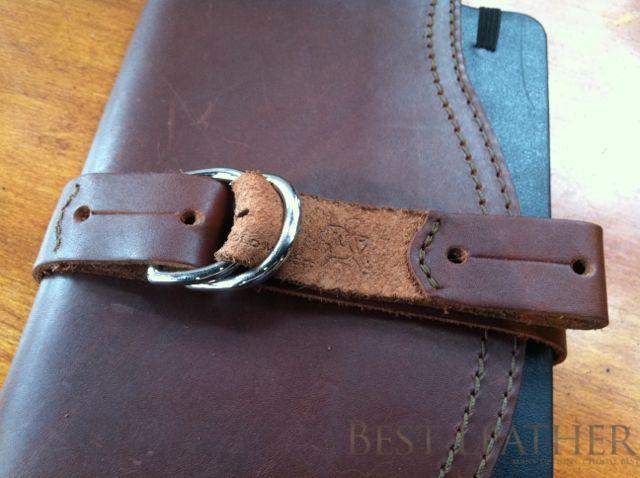 Saddleback Leather utility strap moleskin closure