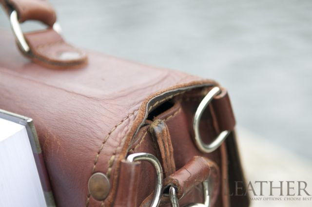 Saddleback Leather Thin Briefcase 6 month checkup2