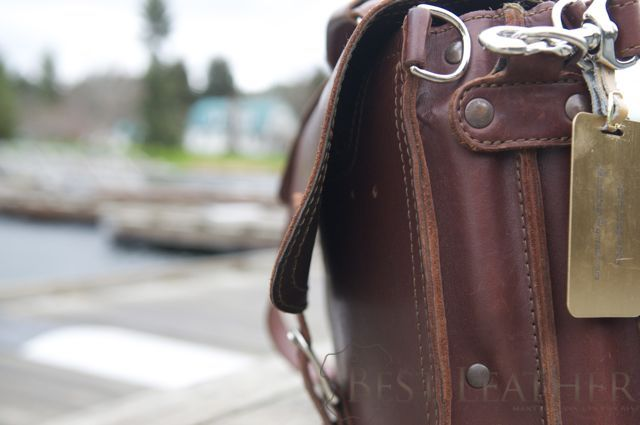 Saddleback Leather Thin Briefcase 6 month checkup5