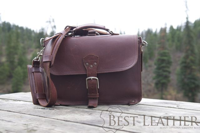 Saddleback Leather Thin Briefcase 6 month checkup6