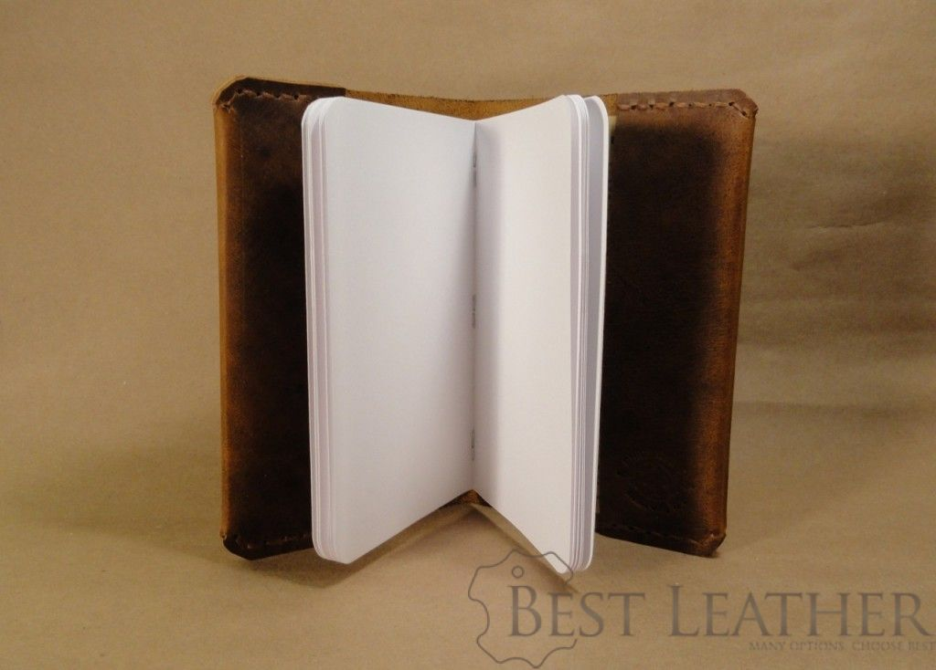 Davis Leather field notes cover with Stitched Flaps