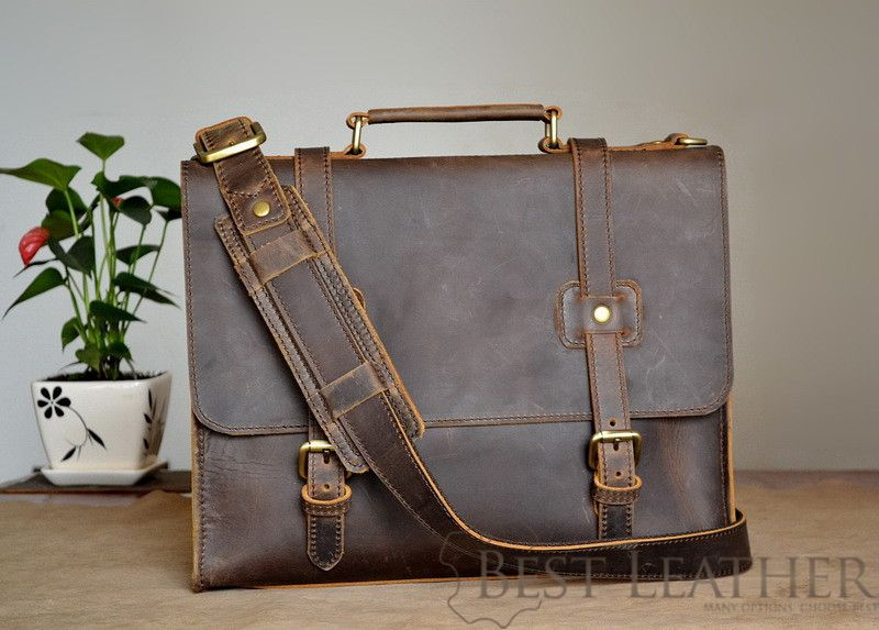 Marlondo Leather Briefcase Thin
