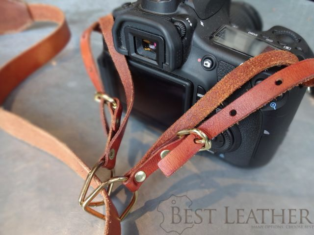 Hidden Mountain Curriers Leather Camera Strap1