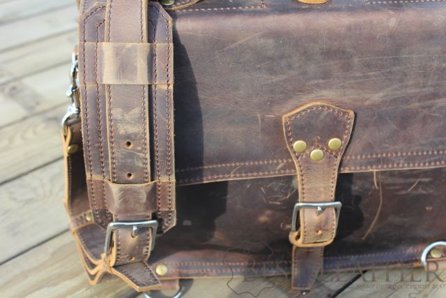 Marlondo Leather Thin Briefcase07