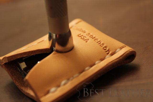 Kenton Sorenson Leather Safety Razor Sheath Review1