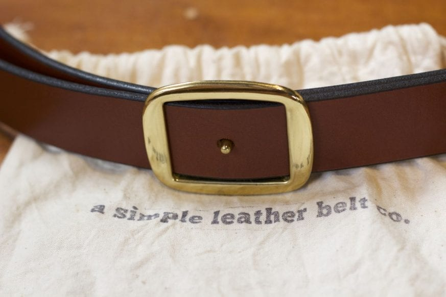 Simple Leather Belt Cinch Belt Review3